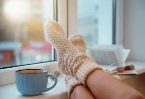 Socks keeping your feet warm