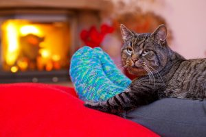 Keeping your feet warm by the fire